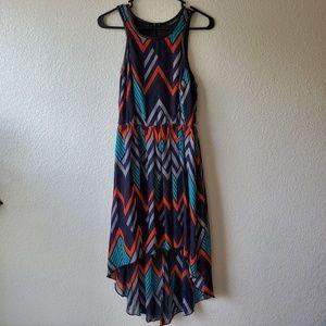 Printed Asymmetric Dress